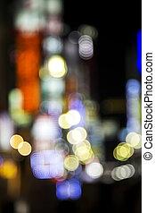 Defocused city lights inTokyo