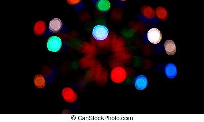 defocused colored circular lights - loopable