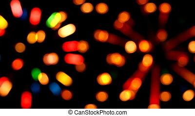 defocused colored circular lights backgrounds