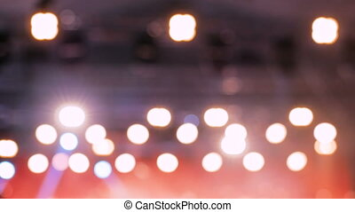 Defocused concert lighting background