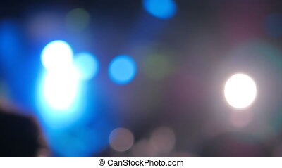 Defocused concert lighting - Abstract defocused concert...