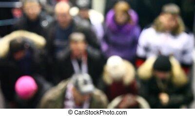 Defocused crowd   (top view)