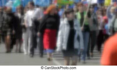 crowded street  - Defocused crowded street