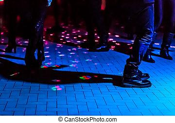 defocused dance floor