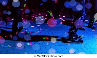 defocused dance floor - defocused background of a dance...