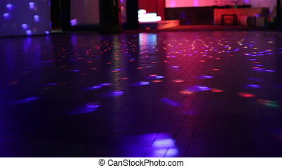 defocused dance floor background of a disco club with no...