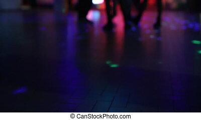 defocused dancing floor