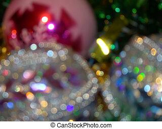 defocused, decoraciones, navidad