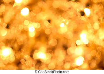 defocused, dorado, luces