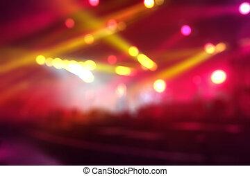 defocused, fond, concert