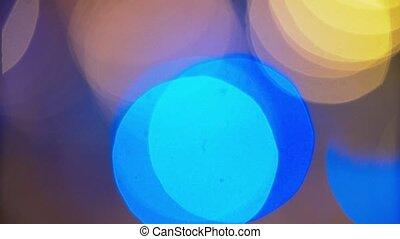 Defocused Glowing Colorful Lights Background - defocused...