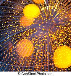 Defocused gold lights background