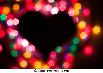 Defocused heart (no focus)