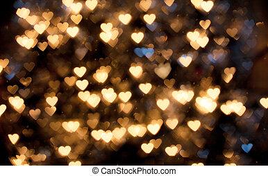defocused hearts - defocused background