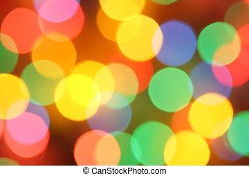 Defocused holiday lights