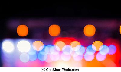 defocused, koncert, oświetlenie, tło