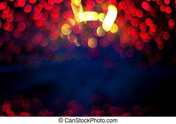 Defocused light background