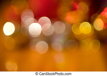 Defocused light background