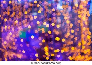 Defocused light  bokeh abstract background.