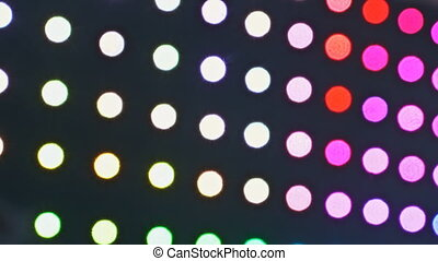 Defocused lights abstract blur background moving bokeh circles