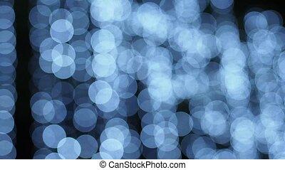Defocused lights, abstract motion b