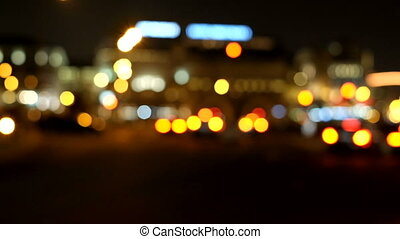 Car Lanterns out of focus