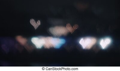 Defocused lights in the night