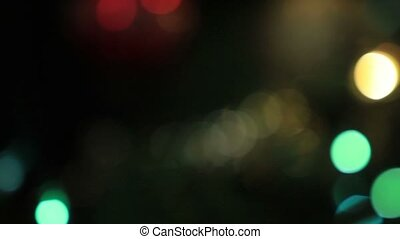 Defocused lights of Christmas tree