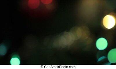 Defocused lights of Christmas tree