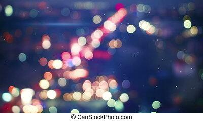 defocused lights of night traffic seamless loop