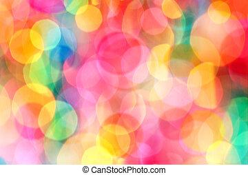 Defocused lights - Colorful and defocused lights - perfect...