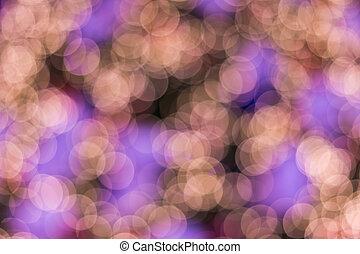 defocused, ligths, de, dorado, árbol de navidad