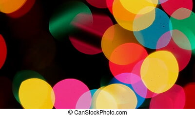 Defocused ligths of Christmas tree Christmas Bokeh background