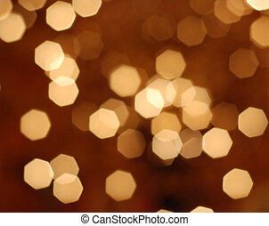 defocused ligths - picture of many defocused orange candle...
