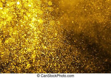 defocused, lyse, glitter, jul, bakgrund.