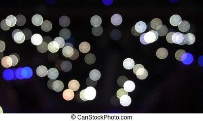 Defocused motion lights at evening.