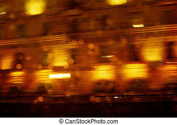 Defocused night city scene, abstract image