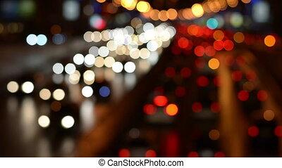Defocused night freeway scene