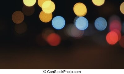 Defocused night lights abstract defocused