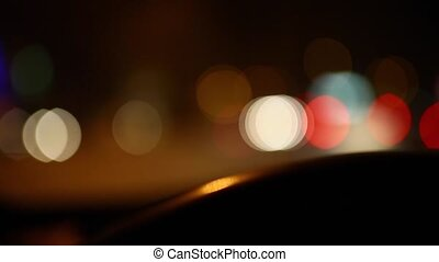 Defocused night traffic lights-Konya