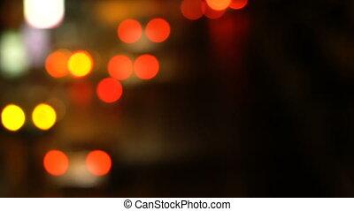 Defocused night traffic