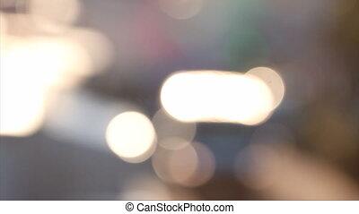 Defocused Of Cars Light - Defocused Blurred City Traffic...