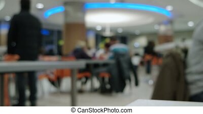 Defocused People in food court