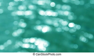 defocused reflections on water