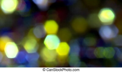 defocused spots of light