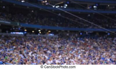 defocused., stadium., lekkoatletyka