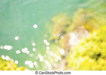 Defocused summer water background