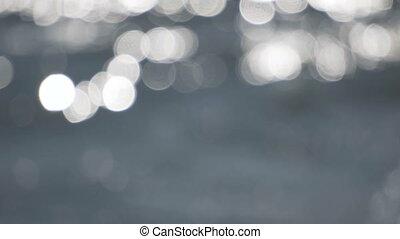 Defocused Sun Reflections on Water Surface