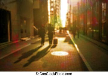 Defocused urban scene retro style