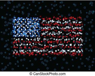 Defocused US flag